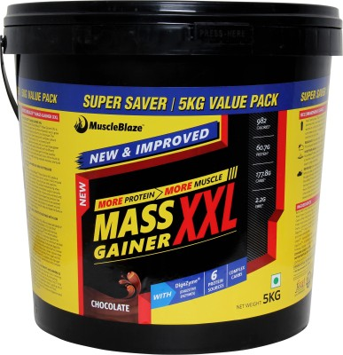 MuscleBlaze Mass Gainer XXL (5 Kg, Chocolate)