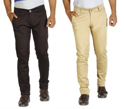 Star Slim Men's Brown, Beige Jeans(Pack of 2)