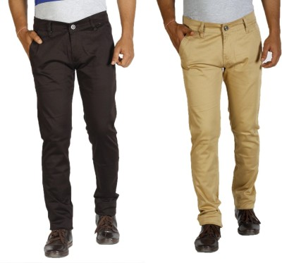 Star Slim Men's Brown, Yellow Jeans(Pack of 2)