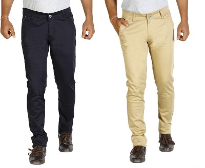 Star Slim Men's Dark Blue, Beige Jeans(Pack of 2)