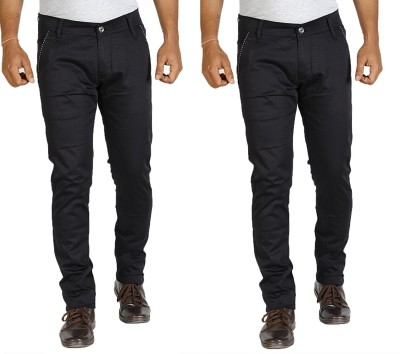 Star Slim Men's Black Jeans(Pack of 2)