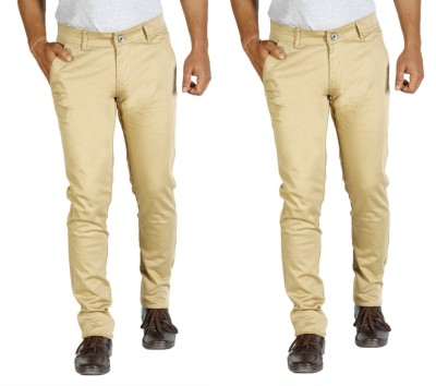 Star Slim Men's Beige Jeans(Pack of 2)