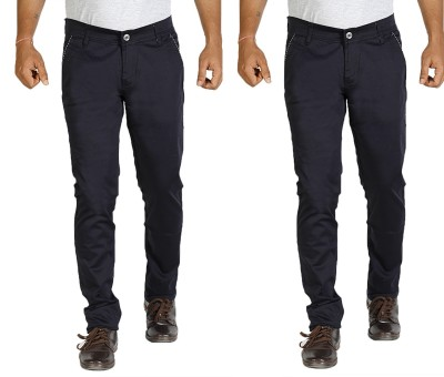 Star Slim Men's Dark Blue Jeans(Pack of 2)