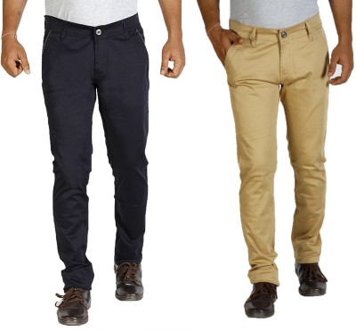 Star Slim Men's Dark Blue, Yellow Jeans(Pack of 2)