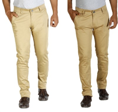Star Slim Men's Beige, Yellow Jeans(Pack of 2)