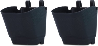 DCS Vertical Garden Wall Hanging Pot Black Colur Pack Of 2 Plant Container Set(Pack of 2, Plastic)  available at flipkart for Rs.160