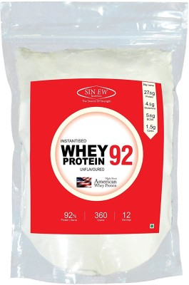 Sinew Nutrition Instantised Whey Protein Isolate 92% Raw & Unflavoured 360gm(12 Servings) Supplement Powder Whey Protein(360 g, Unflavored)