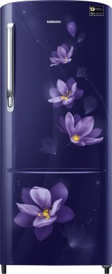 Samsung 192 L Direct Cool Single Door 4 Star Refrigerator(Magnolia Blue, RR20M172YU7/HL,RR20M272YU7/NL) at flipkart