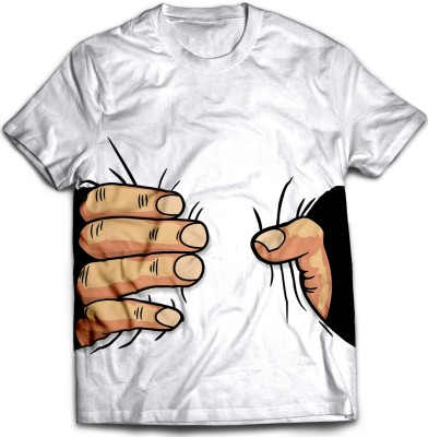 STAND OUT Printed, Graphic Print Men's Round Neck White T-Shirt