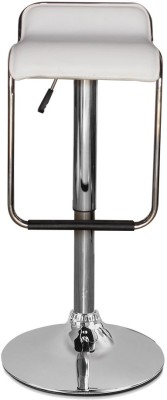 Woodness Metal Bar Stool(Finish Color - White)