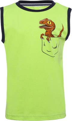 Imagica Boys Printed Cotton T Shirt(Light Green, Pack of 1)  available at flipkart for Rs.300