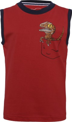 Imagica Boys Printed Cotton T Shirt(Red, Pack of 1)  available at flipkart for Rs.300