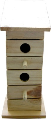 Birdhousebuilder NB0020 Duplex Birdhouse for Sparrow Bird House(Wall Mounting, Tree Mounting, Free Standing)