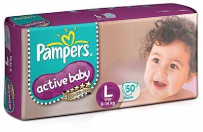 Pampers Active Baby Diapers   L 50 Pieces Pampers Baby Diapers