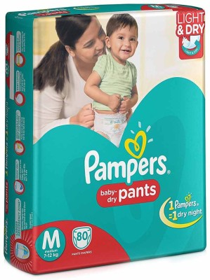 Pampers Pants M Diapers (80 Pieces)
