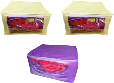 Aadhya combo Non Woven Saree Cover pack of 3 k Multicolor Aadhya Garment Covers