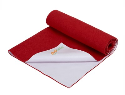 Oyo Baby Cotton Baby Bed Protecting Mat(Red, Extra Large)