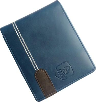 LANDER Men Blue Artificial Leather Wallet 6 Card Slots