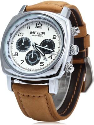 Megir 1056- WHT DIAL Sports Analog Watch For Boys