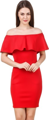 Texco Women Bodycon Red Dress