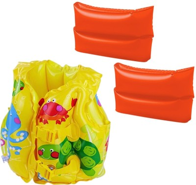 Golddust ArmBand with Swim life jacket for 3-6 Year Child for 3-6 Year Child Swimming Kit  available at flipkart for Rs.599