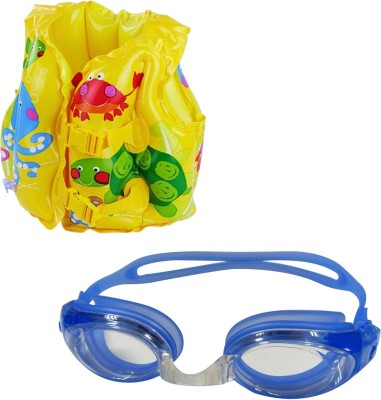 Golddust Goggles with Swim life jacket for 3-6 Year Child Swimming Kit  available at flipkart for Rs.599