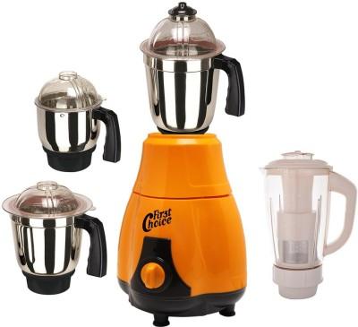 First Choice MG16-255 600 W Mixer Grinder(Orange, 4 Jars)