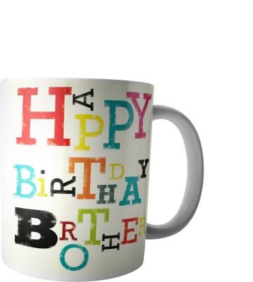 PrintVisa Happy Birthday Brother Ceramic Mug(300 ml) at flipkart