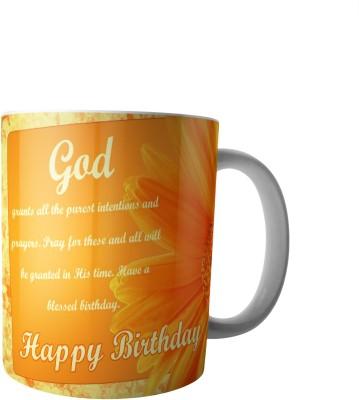 PrintVisa Happy Birthday To You Ceramic Mug(300 ml) at flipkart