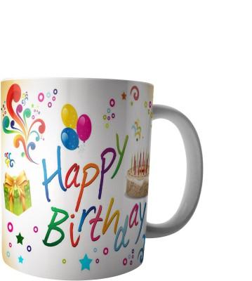 PrintVisa Happy Birthday Dear designer Ceramic Mug(300 ml) at flipkart