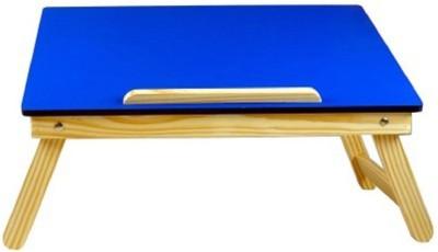 Tablemate Multipurpose wooden Bedmate Folding Kids Home Office Blue Desk Solid Wood Portable Laptop Table(Finish Color - Blue)