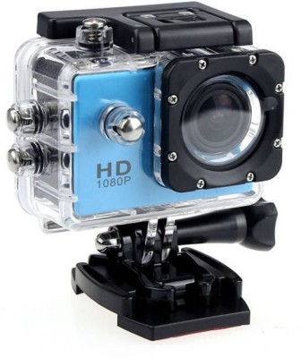 IZED HERO 1080P Waterproof Digital with led screen(WITHOUT memory card ) Sports and Action Camera(Blue 10.4 MP)