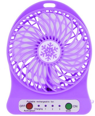 Cierie Usb Powered Air Mini Small Conditioner  RTZx-11 USB Fan(Voilet)