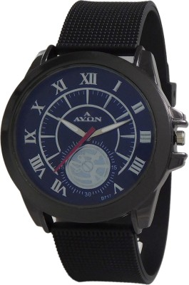 A Avon PK_469 Classy Black Analog Watch For Boys