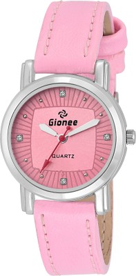 Gionee Gr077 Complete Pink Round Dial Casual Analog Wrist Watch Watch  - For Girls