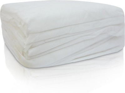 Greatech Polycotton Single Plain bedsheet(5 Disposable Single bedsheet, White)  available at flipkart for Rs.154