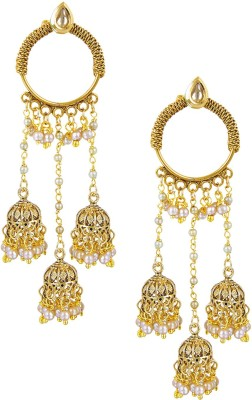 Shining Jewel Original & Authentic Temple Pearl Brass Chandelier Earring  available at flipkart for Rs.821