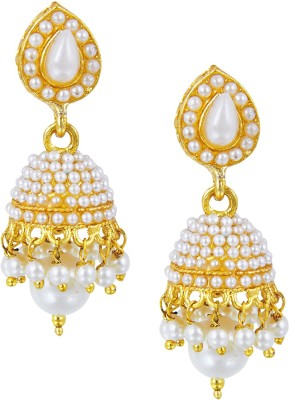 Shining Jewel Original & Authentic Temple Pearl Brass Jhumki Earring  available at flipkart for Rs.396