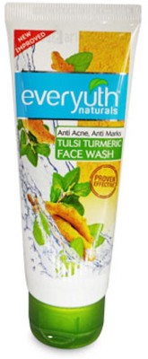 Everyuth Naturals Tulsi Turmeric Anti acne,Anti marks for a clear bright face proven effective Face Wash(150 g)