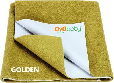 Oyo Baby Cotton Changing Mat Baby Care Sheet(Gold, Medium)
