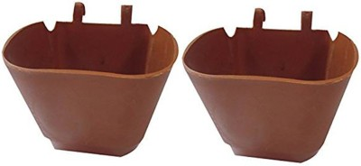 DCS DCS Vertical Garden Wall Hanging Pot Merron Colur Pack Of 2 Plant Container Set(Pack of 2, Plastic)  available at flipkart for Rs.170