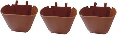 DCS DCS Vertical Garden Wall Hanging Pot Merron Colur Pack Of 3 Plant Container Set(Pack of 3, Plastic)  available at flipkart for Rs.210
