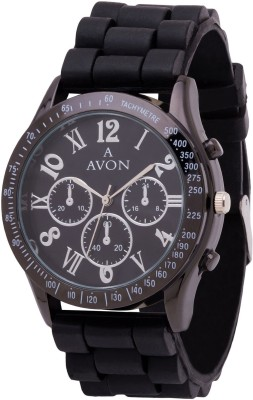 A Avon PK_701 Classy Black Chronograph Analog Watch For Boys