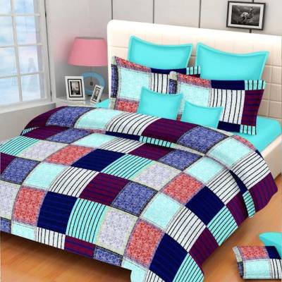 Home Elite Cotton Checkered Double Bedsheet