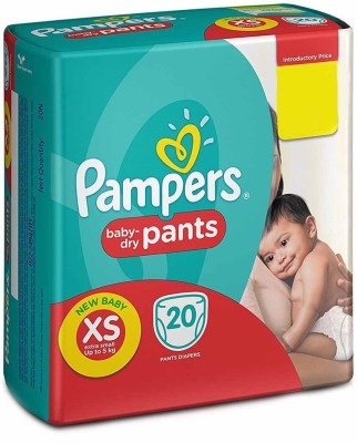 Pampers Pants Extra Diapers for New Born, Small 20 Pieces