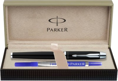 Parker IM Metal Laque Black CT Roller Ball Pen  available at flipkart for Rs.1350