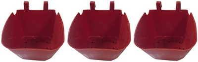 DCS Red Hanging Pot Combo 2 Plant Container Set(Pack of 3, Plastic)  available at flipkart for Rs.210