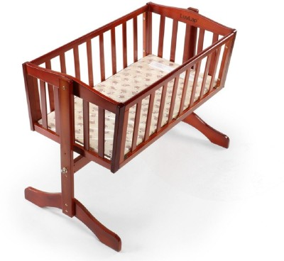 LuvLap Baby Wooden Cot Baby Bed Rectangular(Wood, Cherry Red) at flipkart