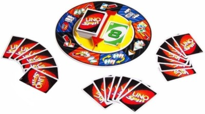 Wishkey UNO SPIN Wheel Card Family Board Game(Multicolor)  available at flipkart for Rs.599