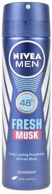 Nivea Men Fresh Musk (African Musk) Spray Deodorant Spray  -  For Men(149 ml)